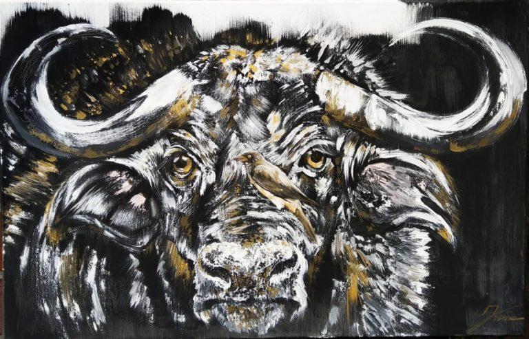 Bulle Acryl Gemälde